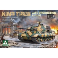 WWII GERMAN HEAVY TANK Sd.Kfz182 KING TIGER LATE PROD 2IN1 (WIITHOUT INTERIOR) 1/35