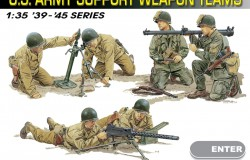 US ARMY SUPPORT WEAPON TEAM 1/35