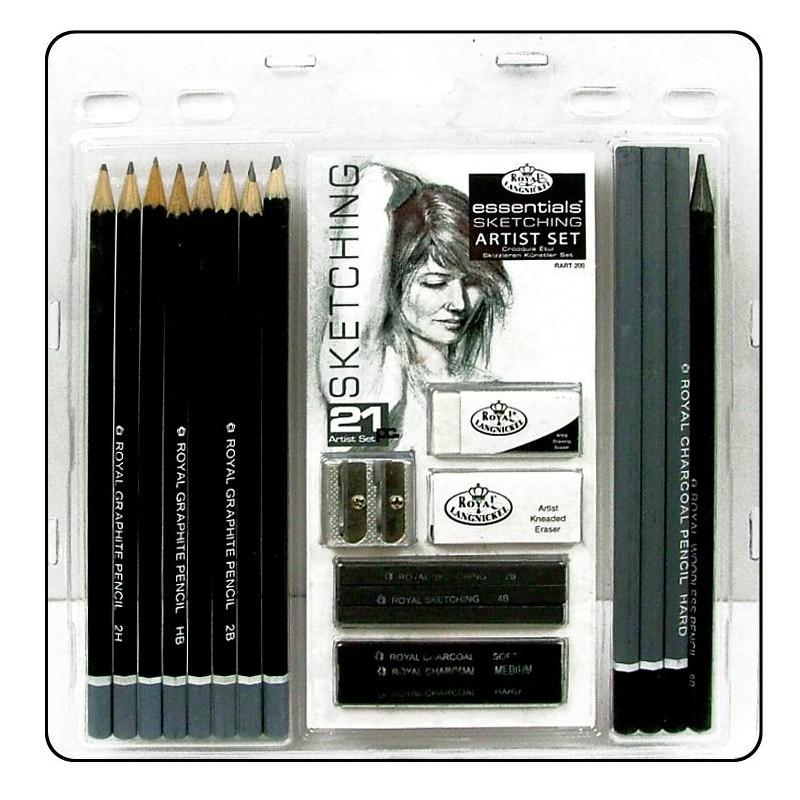 R&L Sketching art set 21 delar RART-200-3T