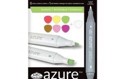 Azur Markers set Botaniska toner 6st + Blender 1st 7 delar