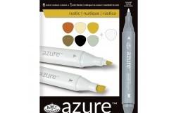 Azur Markers set Rosttoner 6st + Blender 1st 7 delar