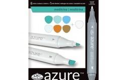 Azur Markers set Medelhavstoner 6st + Blender 1st 7 delar
