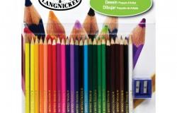 R&L Färgpennor 24 st vässare & Block 26 delar