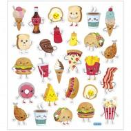 Stickers, 25x16,5 cm, 27 st snabbmat
