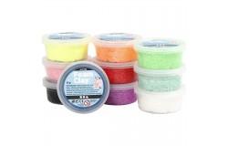 Foam Clay mixade färger Glitter