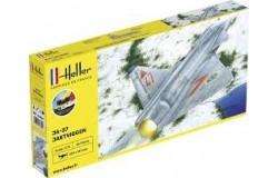 1/72 SAAB JA-37 Jaktviggen COMPLETE w. Glue, Paint
