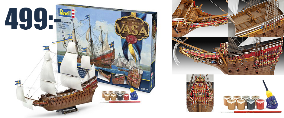 Gift-set royal swedish warship VASA 1/150 scale model