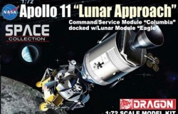 Apollo 11 Lunar Approach CSM Columbia + LM Eagle 1/72
