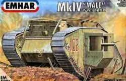 """Mk IV """"Male""""! WWI Battle Tank 1/72"""