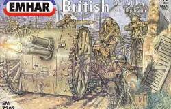 British Artillery WW1 Figures (24 fig) )  & 18 pdr Gun 1/72