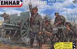 Ger. Artillery WW1 Figs & 77mm Field cannon 96n/A - 24 fig. 1/72