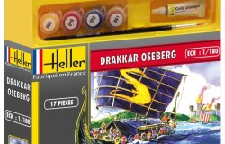 VIKING SHIP OSEBERG DRAKKAR COMPLETE WITH paint, glue and brush 1/180