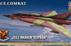 """J35J DRAKEN """"ACE COMBAT ESPADA"""" 1/72"""
