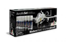 Acrylic Set (6 pcs.) Modern USAF/U.S. Navy Aircraftl