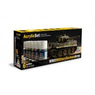 Acrylic Set (6 pcs.) WWll Military German Army