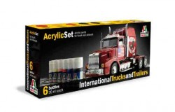 Acrylic Set (6 pcs.) International Trucks and Trailers
