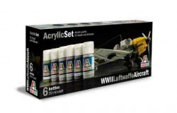 Acrylic Set (6 pcs.) WWII Luftwaffe Aircraft