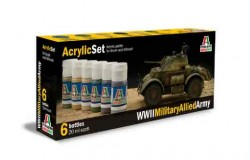 Acrylic Set  (6 pc) WWll Military Allied Army