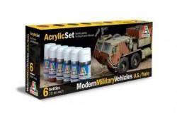 Acrylic Set (6pcs) MODERN MILITARY VEH.(U.S./NATO)