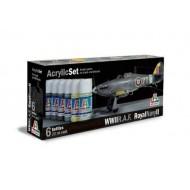 Acrylic Set (6pcs) R.A.F./Royal Navy II