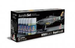 Acrylic Set (6pcs) R.A.F./Royal Navy II
