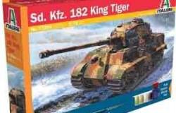 MODEL SET: SD. KFZ. 182 King Tiger  1/72