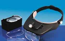 VERSITILE HEADBAND MAGNIFIER (4 lenses and light)