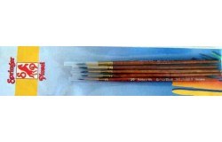 BRUSH SET SYNTET(5 PIECES - 2/0,0,1,2,3)