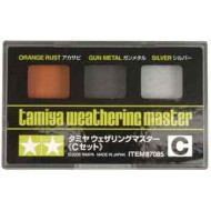 Weathering Master C set (Orange rust, Gun metal, Silver)