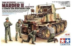Marder III with german maintenance crew 1/35