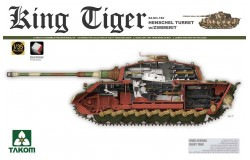 WWII German Heavy Tank Sd.Kfz.182 Kg Tiger Henschel Turret w/Zimmerit  1/35