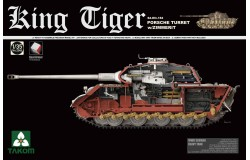 WWII German Heavy Tank Sd.KFZ.182 Kg Tiger Porsche Turret w/Zimmerit  1/35