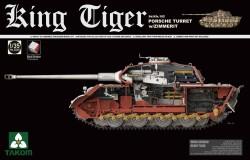 WWII German Heavy Tank Sd.KFZ.182 Kg Tiger Porsche Turret w/Zimmerit  1/35