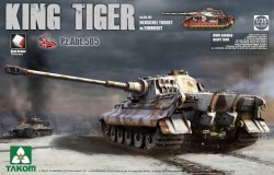 WWII German Heavy Tank Sd.Kfz.182 Kg Tiger Henschel Turret w/Zimmerit  1/35