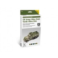 MODEL AIR SET US ARMY OLIVE DRAB 6X8ML