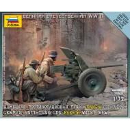 Anti-Tank Gun PAK 36 w. crew  (Pansarvärnkanon m39) 1/72 SNAP