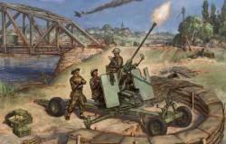 British Bofors 40mm Mk-2 AA-Gun (gun + 4 servants) 1/72 SNAP