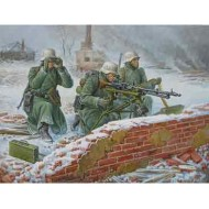 German Machine Gun with Crew (Winter Uniform)  1/72 SNAP