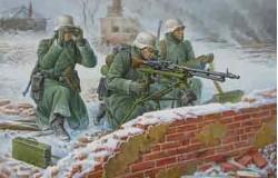 German Machine Gun with Crew (Winter Uniform)  1/72 SNAP