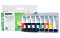 Akrylmaling sæt 8stk. 22ml standard farver