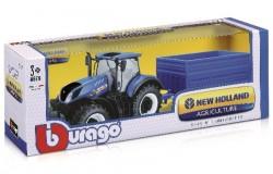 Tractor 1:32 w/trailer New Holland T7.315 ass.