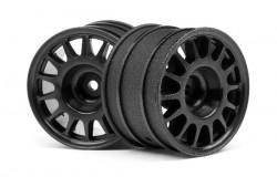 Wr8 Rally Off-Road Wheel Black (48X33Mm/2Pcs)