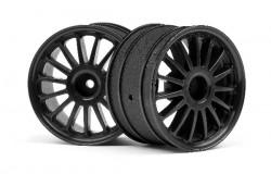 WR8 Tarmac Wheel Black (2.2inch57X35Mm/2Pcs)