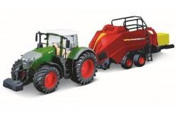 Tractor w/bale lifter Fendt 1050 Vario 10cm green