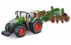 Tractor w/whirl rake Fendt 1050 Vario 10cm green