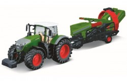 Tractor w/cultivator Fendt 1050 Vario 10cm green