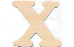 Træbogstav X 10cm x 4mm