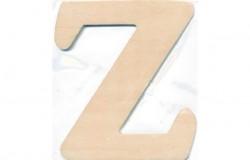 Træbogstav Z 10cm x 4mm