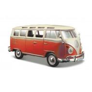 """Volkswagen Van """"Samba"""" 1:24 white/Red"""