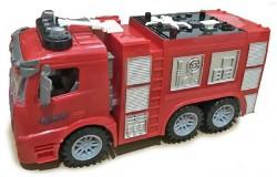 Brandbil med sprøjte, lys, lyd & Try Me 1:14 rød